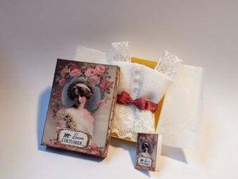 Underwear/camisole/corset cover with box Miniature 1/12th #1