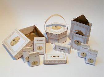 Kit - Wedding Boxes No2 - Gold Theme