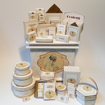 Download - All 4 kits Wedding Boxes - Gold Theme(includes counter)