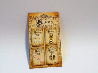 Classic Collection Button Card Display