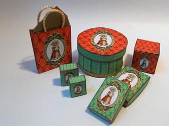 Kit - Lady Lindsay Presentation Box & Bag Kit(Christmas Girl)