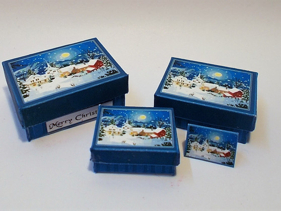 Download - Christmas Gift Boxes - Blue