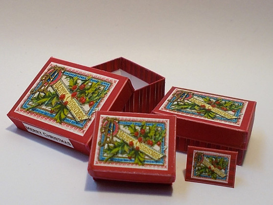 Download - Christmas Gift Boxes - Red