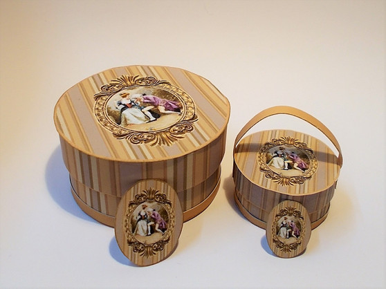 Download - Romantic Hat Boxes Gold
