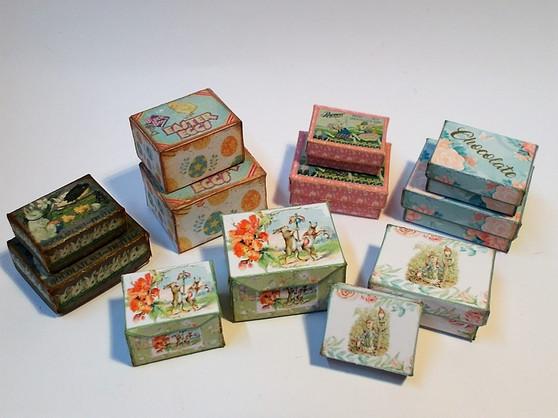Kit - Vintage Easter Boxes