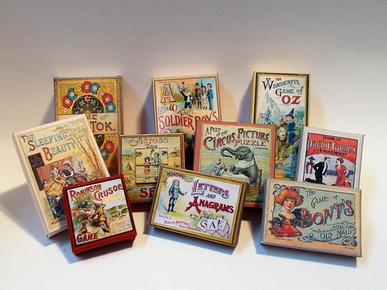 Kit - Vintage Games Boxes #1 (set of 10)