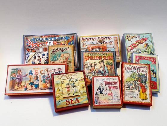 Kit - Vintage Games Boxes #2 (set of 10)