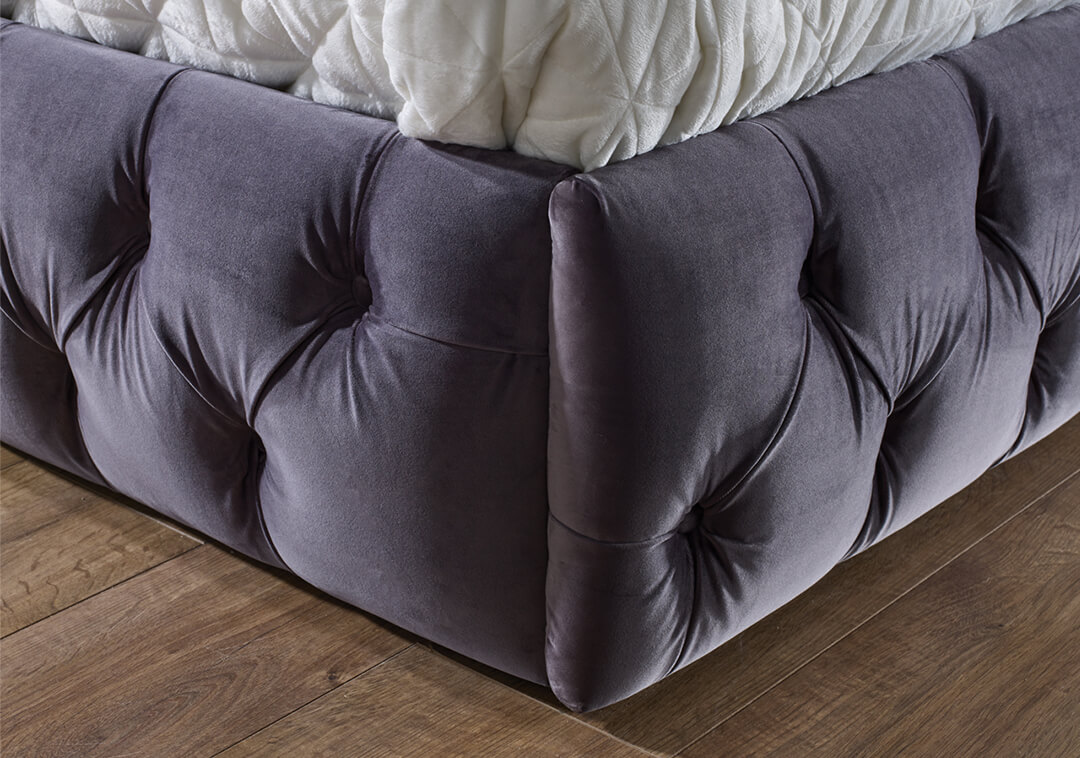 The Duke Bed Frame - Lumino Charcoal Bed Base