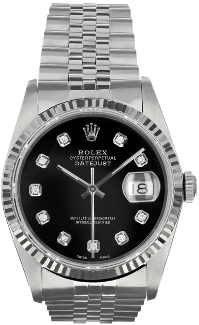Rolex Pre Owned Mens Stainless Steel Datejust 16234 #10151
