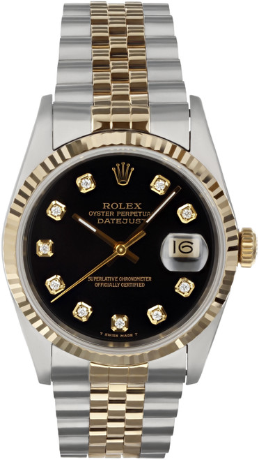 Rolex Pre Owned Mens Datejust 16233 #10201
