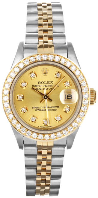 Rolex Pre Owned Womens Datejust 69173 #20400