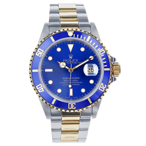 Rolex Pre Owned Men's 40mm Two Tone Submariner Blue 16613  #10552