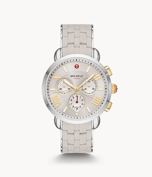 Michele Sporty Sport Sail Wheat Silicone-Wrapped Stainless Steel Watch MWW01P000012