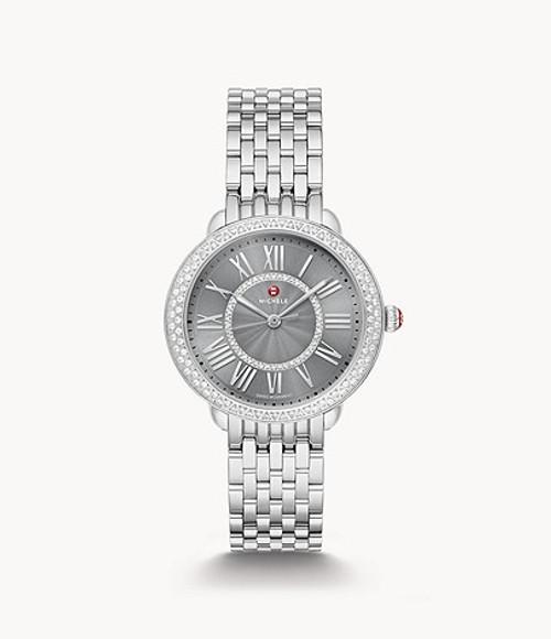Michele Serein Diamond Stainless Steel Watch MWW21B000155