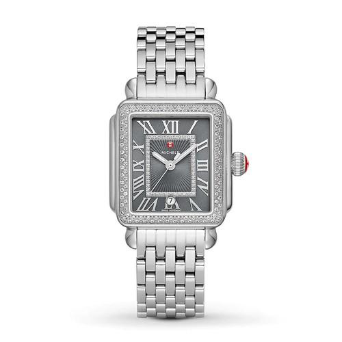 Michele  Deco Madison Stainless-Steel Diamond Watch  MWW06T000181