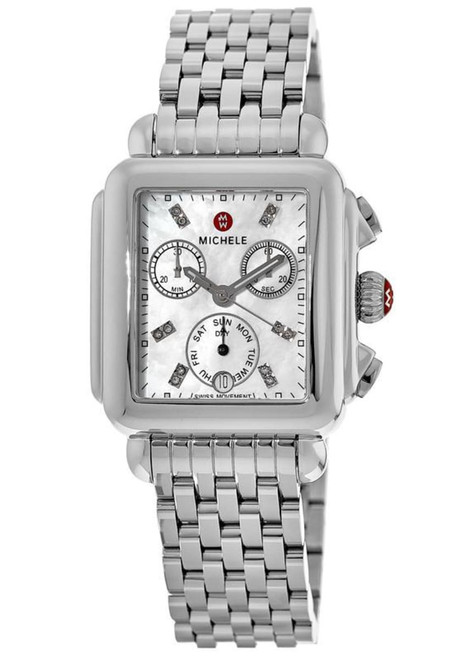 Michele  Deco Non-Diamond, Diamond Dial Watch  MWW06P000014