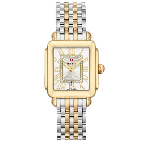 Michele Deco Madison Mid Two-Tone Diamond Dial Watch  MWW06G000013