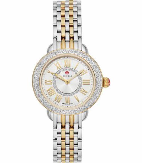 Michele  Serein Petite Two-Tone Diamond Watch  MWW21E000026