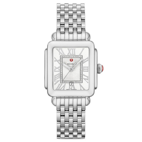 Michele Deco Madison Mid Stainless Steel Diamond Dial Watch  MWW06G000012