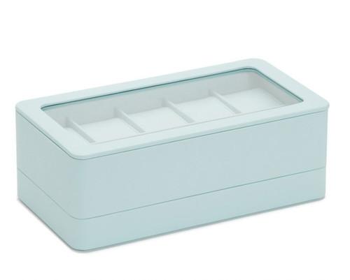 Wolf Box 463124 6 piece watch box w/strap tray for Apple watch