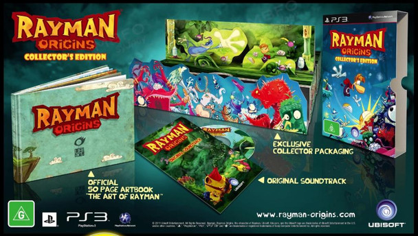Rayman Origins Collectors Edition (PS3) Rare Australian Version