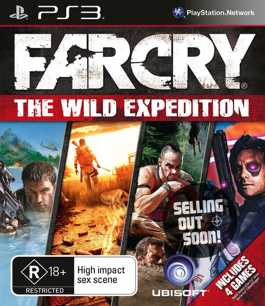 Far Cry The Wild Expedition (PS3) 4 Game Compilation Rare Australian Version