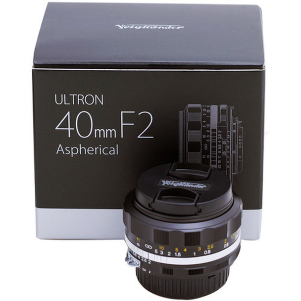 Voigtlander 40mm f/2.0 Ultron SL IIs (Newest Version, Black Rim) Aspherical Lens for Nikon F Mount AIS