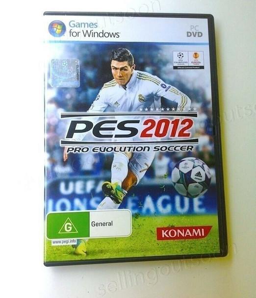 Pro Evolution Soccer 2012 Windows PC Game Software PES 12