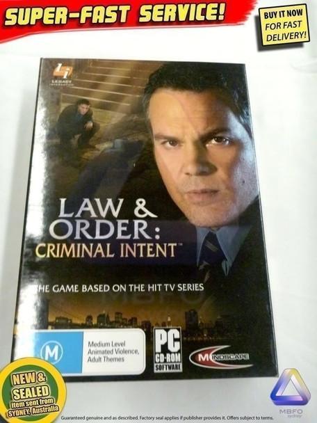 LAW & ORDER - Criminal Intent Game Windows PC