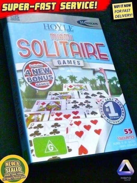 Hoyle Miami Solitaire (World's # 1) for PC Windows + 4 BONUS Card Games