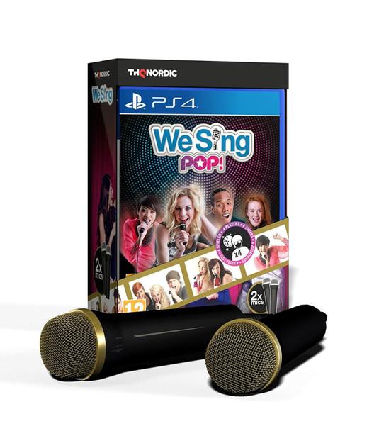 We Sing Pop game + 2 Premium USB Microphones (PS4) PAL (UK, AU, NZ)