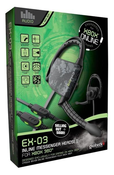 GioTeck EX-03 Inline Messenger Headset (Xbox 360) Authorised Australian Stock