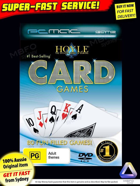 Hoyles Card Games + Video Poker (Pokies) PC Windows 7 XP and Mac OSX computer software