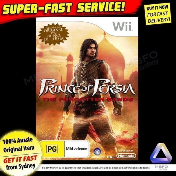 Prince of Persia Forgotten Sands (Wii) Very Rare PAL [Bonus retro 1992 version]