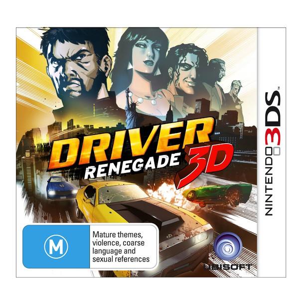 Driver Renegade 3D (Nintendo 3DS 2DS 3DSXL n3DS) Rare Australian Version