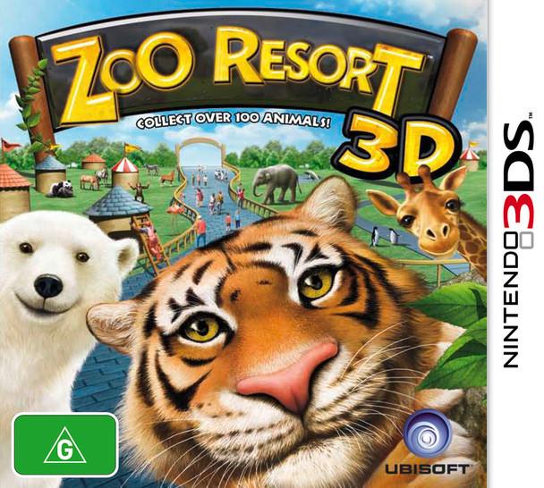 Zoo Resort 3D (Nintendo 3DS 2DS 3DSXL n3DS) Rare Australian Version