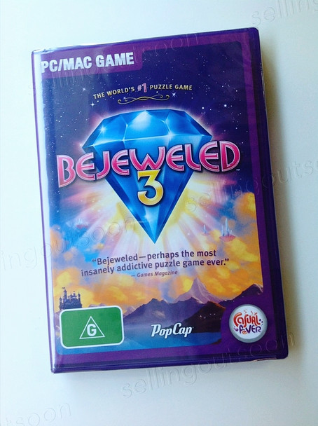 Bejeweled 3 (PC) + (MAC) Rare Australian Version