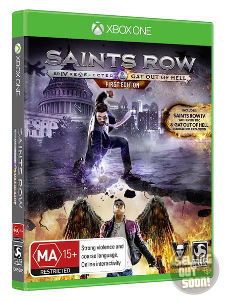 Saints Row IV Re-Elected + Gat Out Of Hell SuperRare FIRST EDITION (Xbox One) Australian