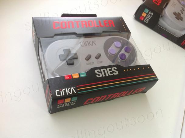 Retro SNES Controller (Compatible with Super Retro Trio console, and Super Nintendo / Super Famicom)