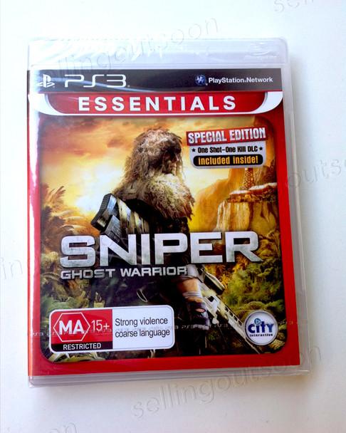 Sniper Ghost Warrior Special Edition (PS3) + DLC Rare Australian Version