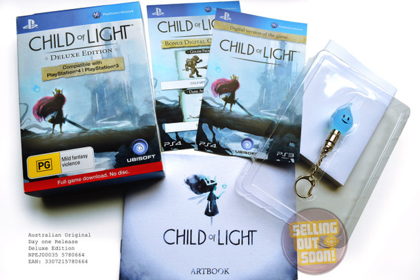 Child Of Light (PS3 & PS4) Rare Australian Version Deluxe (Collectors) Edition