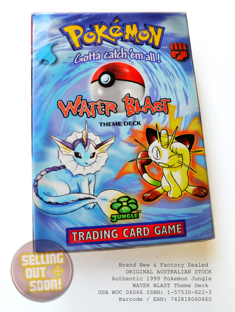 Pokemon Jungle Theme Deck WATER BLAST (Super Rare, circa 1999)