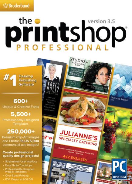 Printshop Pro 3.5 (PC) The #1 Desktop Publishing Software, Windows 8 7 XP Vista
