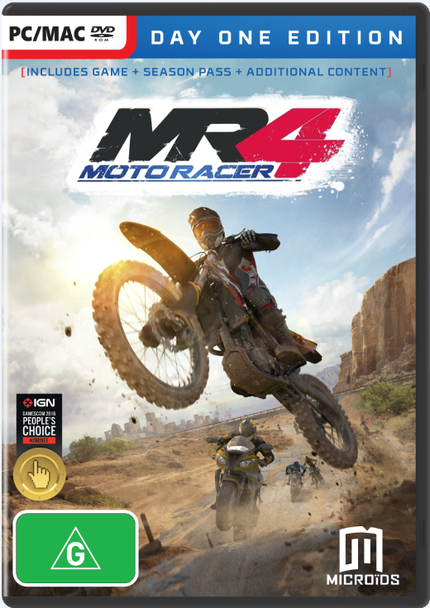 Moto Racer 4 (PC) D1E + SEASON PASS + DLC Australian Version