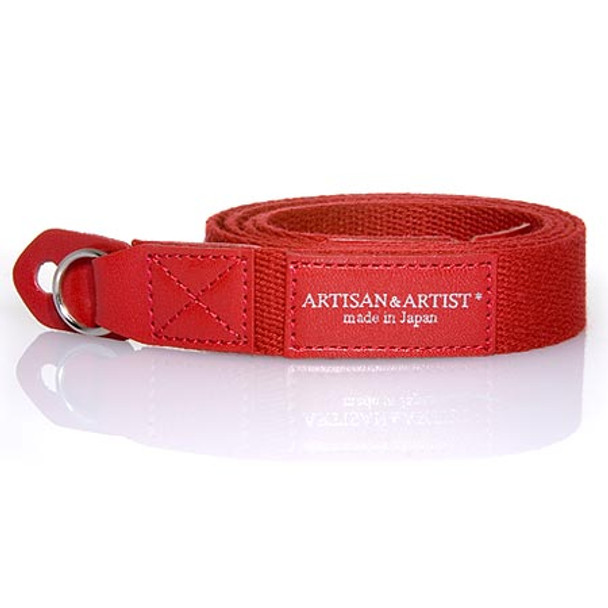 SOLD OUT! Artisan & Artist Camera Strap - ACAM-102 Woven Cotton & Leather Strap (Red)