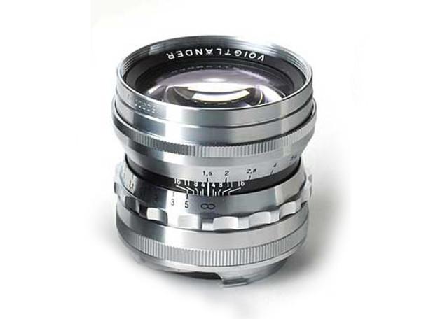 Voigtlander 50mm f1.5 Nokton Aspherical Lens - Leica M Mount (Silver/Chrome) Official Australian Stock, with TRIPLE Warranty