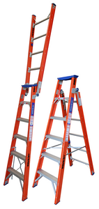 Heavy Duty Pro Series Dual Purpose Fibreglass Ladder - 150kg Load Rating