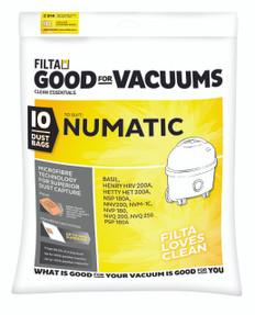 Filta Numatic Microfibre Vacuum Bags 10-15 Litres
