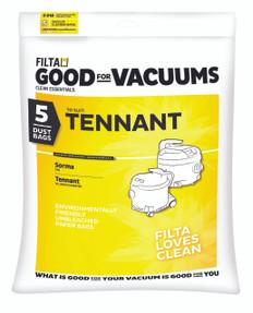 Tennant Microfibre Vacuum Bags, 5 Pack