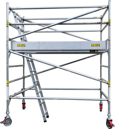 Titan Double Width Mobile Tower Scaffolding  - 4.0m Working Height